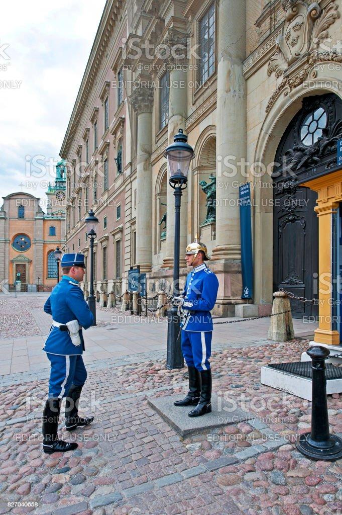 All change, Royal Palace, Stockholm, Sweden stock photo