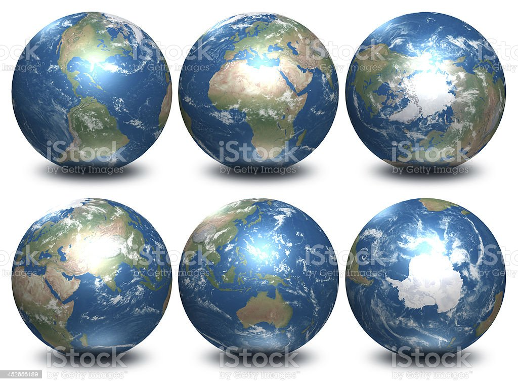 All continents stock photo