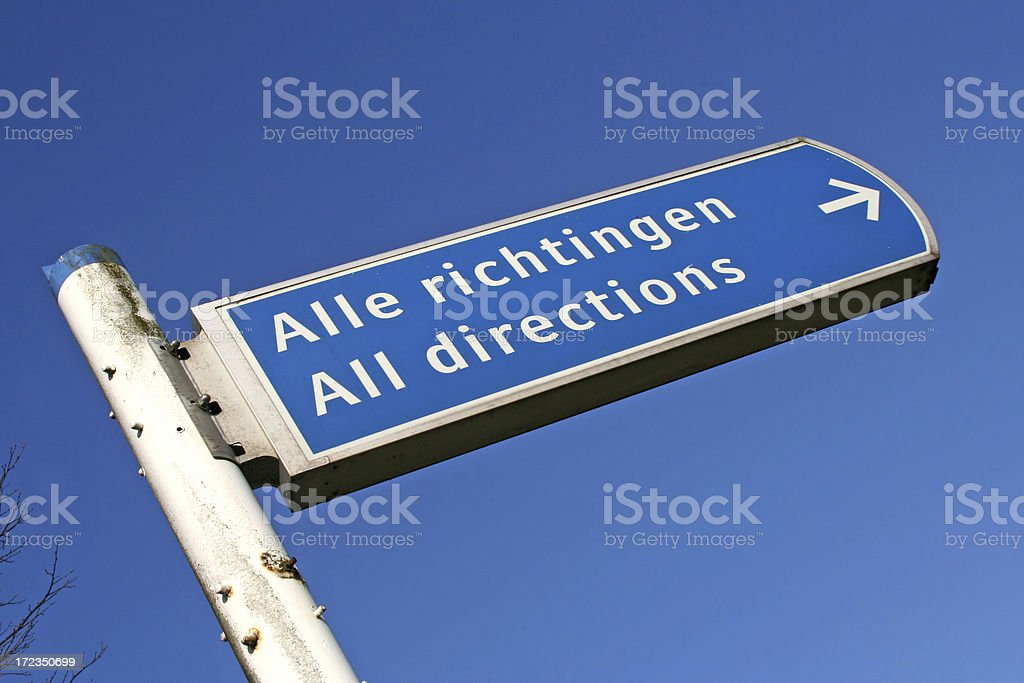 All direction sign royalty-free stock photo