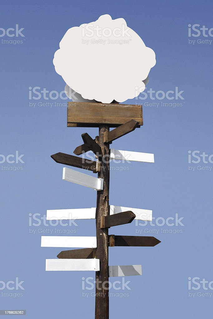 All directions totem royalty-free stock photo
