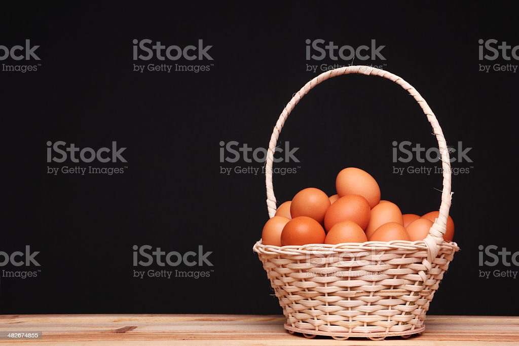 All eggs in one basket royalty-free stock photo