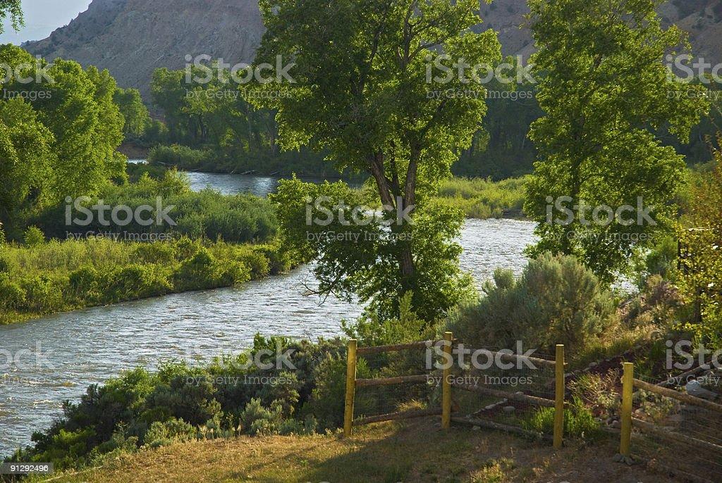 All Encompassing Vew of the Scenic Eagle River in Colorado stock photo