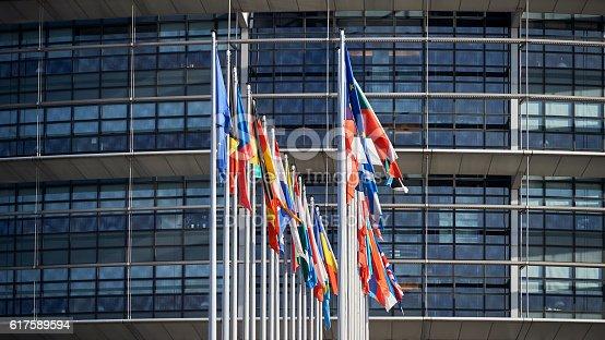istock All European Union Flags Strasbourg Strasbourg 617589594