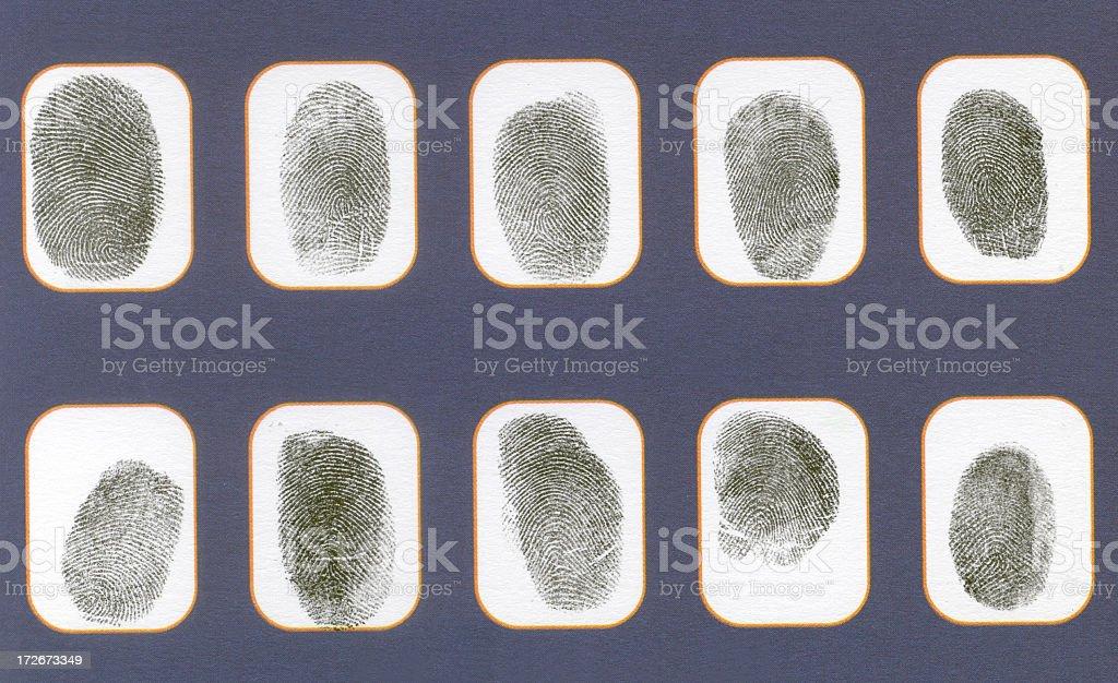All Fingerprints royalty-free stock photo