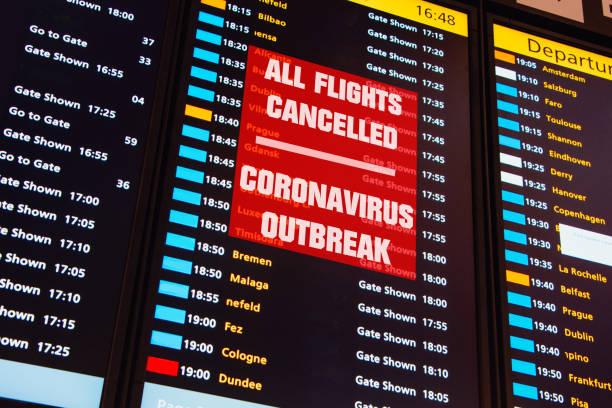 All flights cancelled - Coronavirus Outbreak stock photo