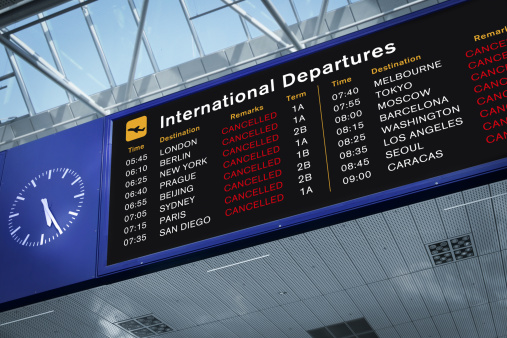 All Flights Cancelled Stock Photo - Download Image Now