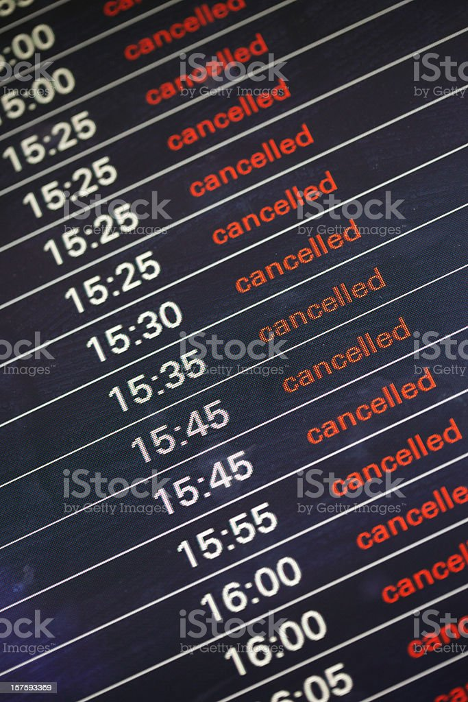 All Flights Grounded Due to Volcanic Ash Cloud from Eyjafjallajökull stock photo
