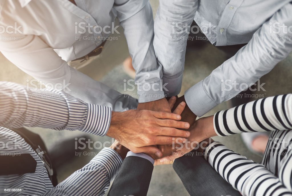 All for one in business and one for all! stock photo