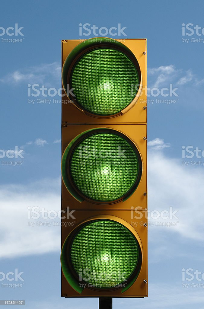 All green traffic light royalty-free stock photo