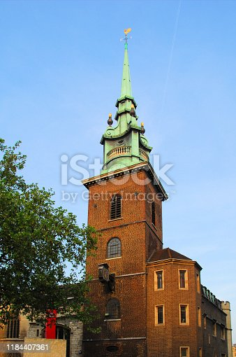 London, England, UK: All Hallows-by-the-Tower Anglican church, first established in 675 - Byward Street, City of London