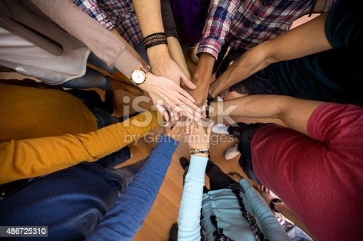 istock All hands together, racial equality in team 486725310