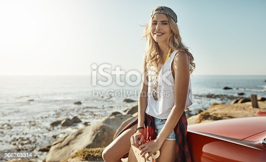 966263130 istock photo All I need is my skateboard and a road trip 966263314