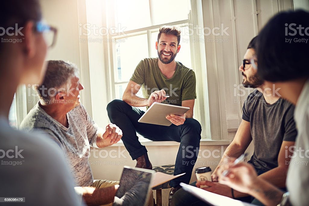 All ideas are valued and welcome stock photo