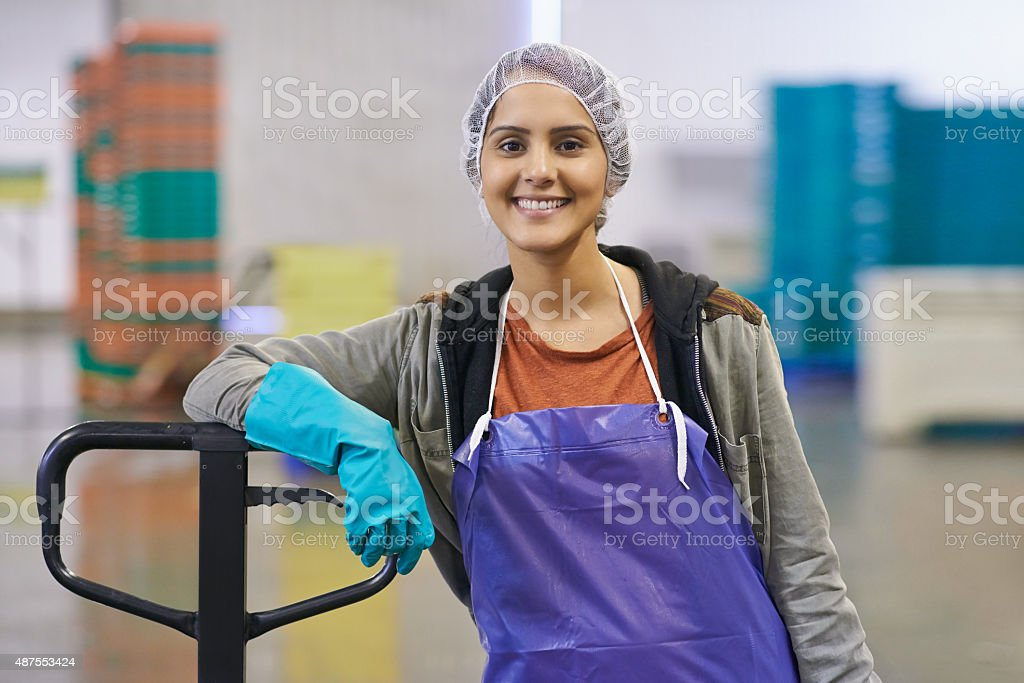 All in a day's work stock photo