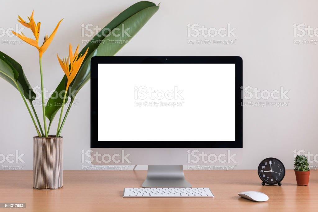 Alles In Einem Computer Maus Tastatur Uhr Kakteen Und Blumen Vase ...