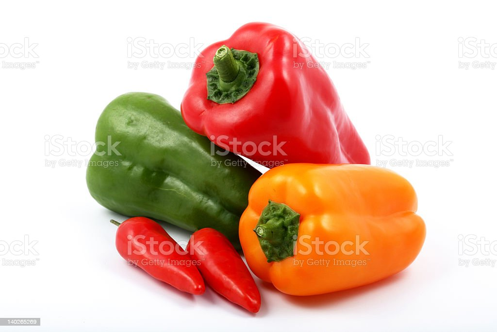 All kind of peppers royalty-free stock photo
