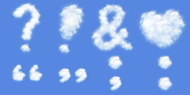 Tous types de Marque de ponctuation dans les nuages - Photo