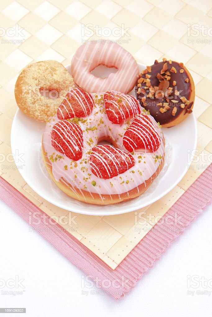 all kinds of delicious donut royalty-free stock photo