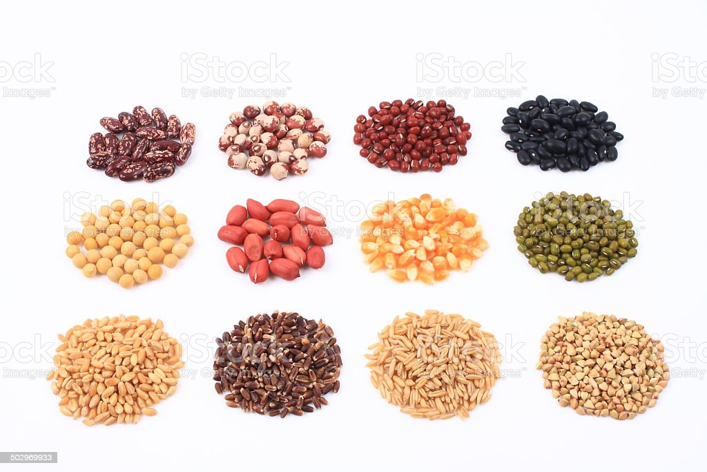All kinds of grain stock photo