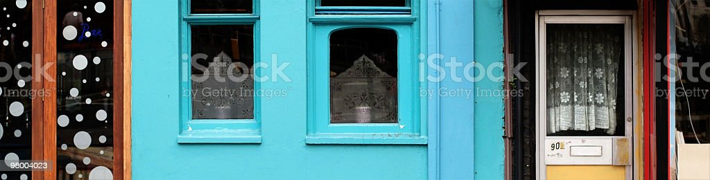 All kinds of windows and doors, in a row royalty-free stock photo