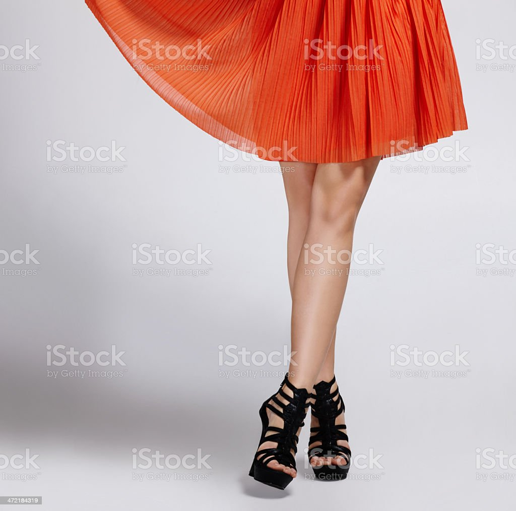 All legs and beauty stock photo