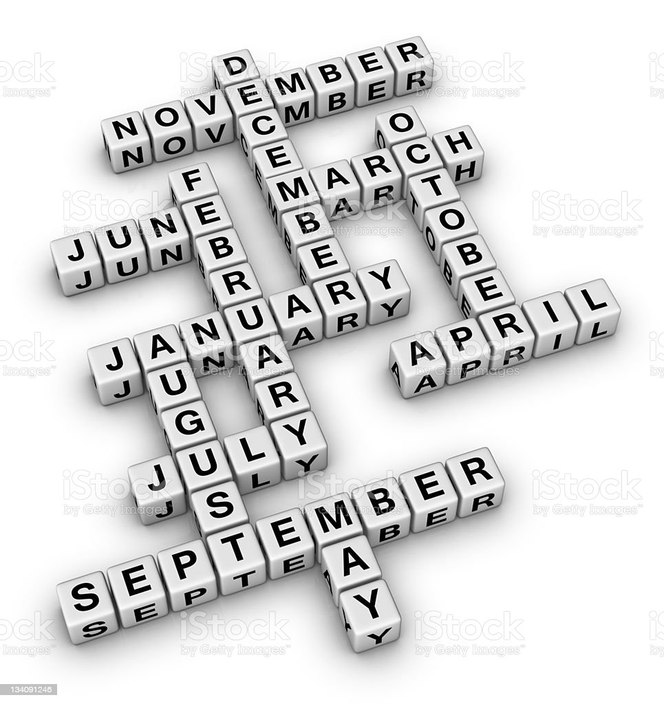 all months of the year royalty-free stock photo