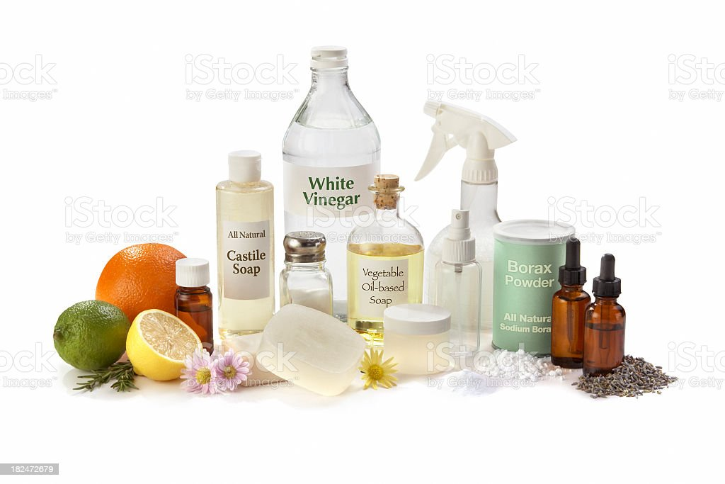 All Natural Cleaning Ingredients for the Home stock photo