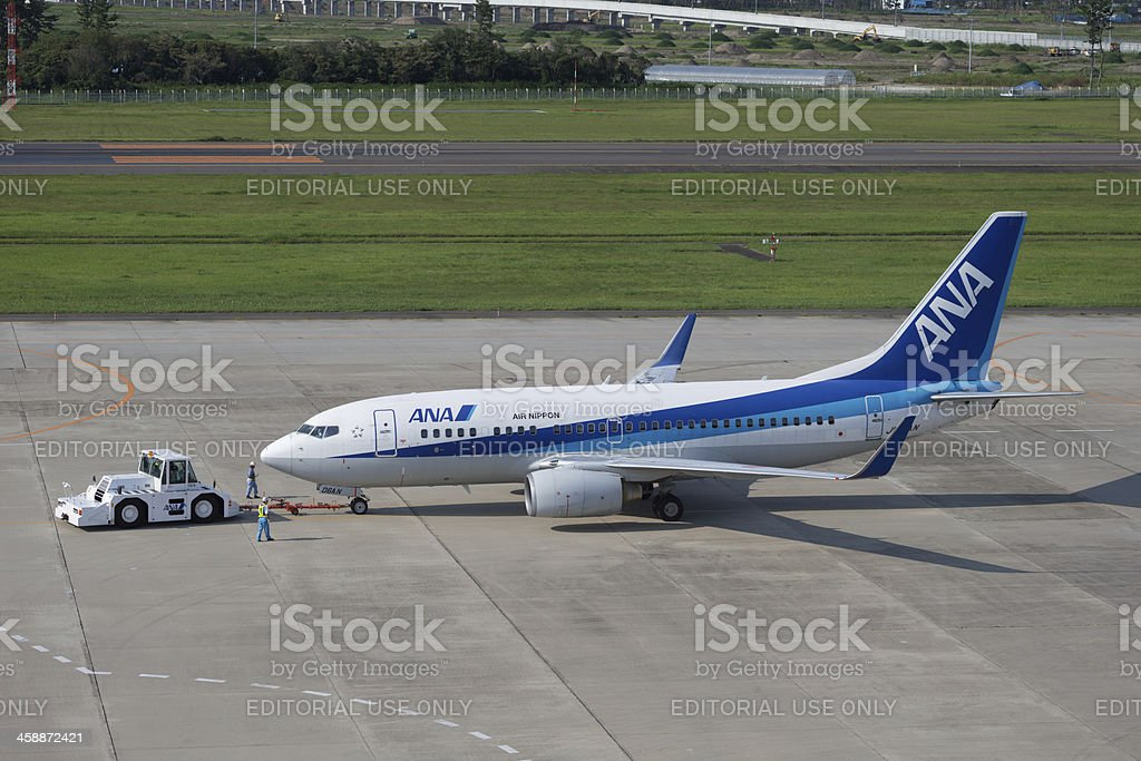 All Nippon Airways Boeing 737 stock photo
