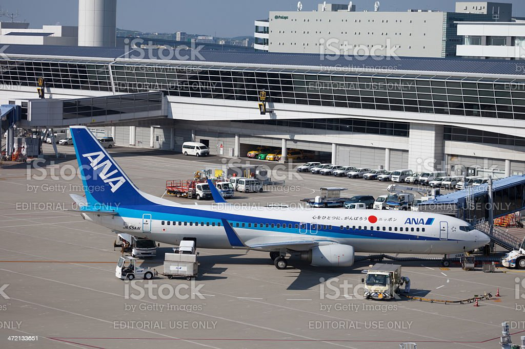 All Nippon Airways Boeing 737-800 stock photo
