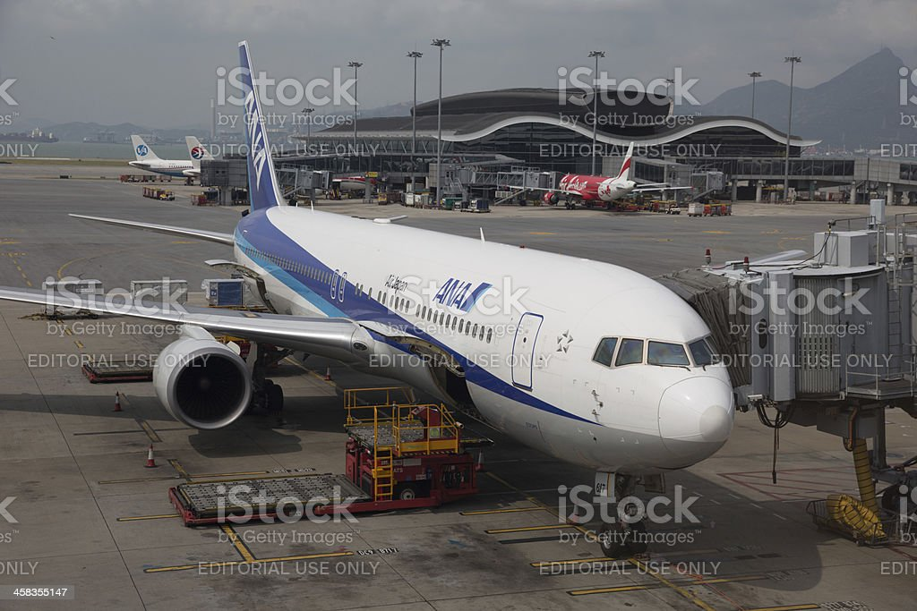 All Nippon Airways Boeing 767-300 royalty-free stock photo