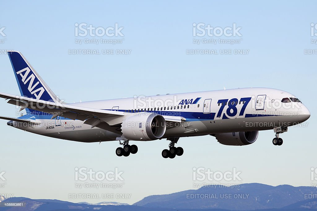 All Nippon Airways Boeing 787 royalty-free stock photo