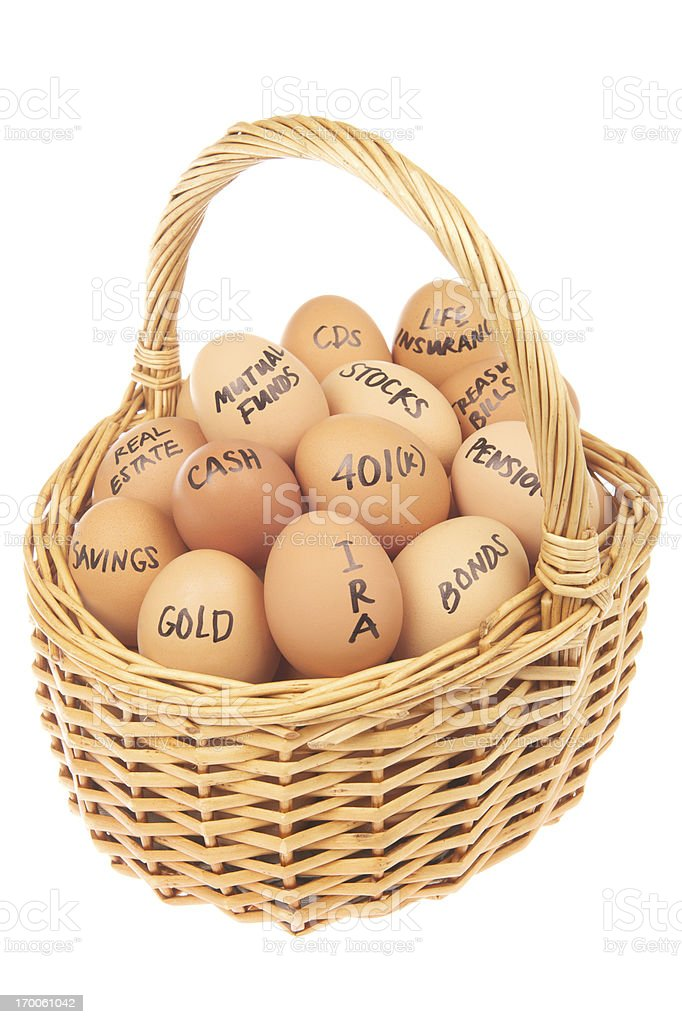All of Your Financial Eggs in One Basket stock photo