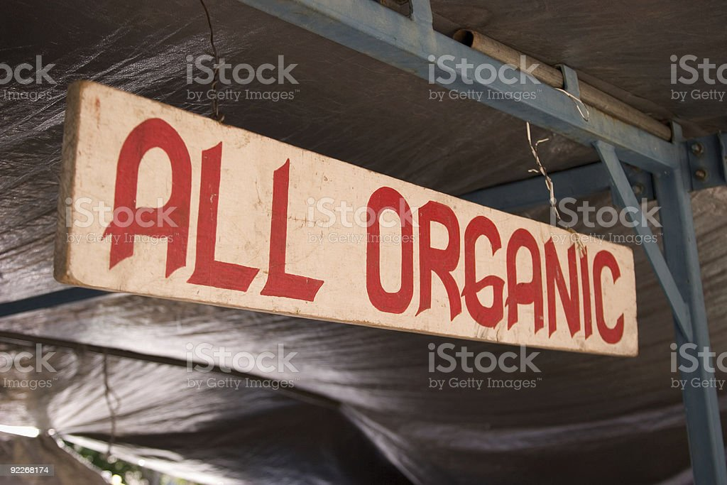 All Organic Sign at Farmer's Market royalty-free stock photo