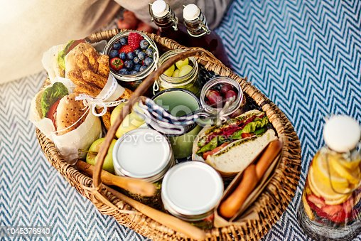 Shot of food at a picnic setting