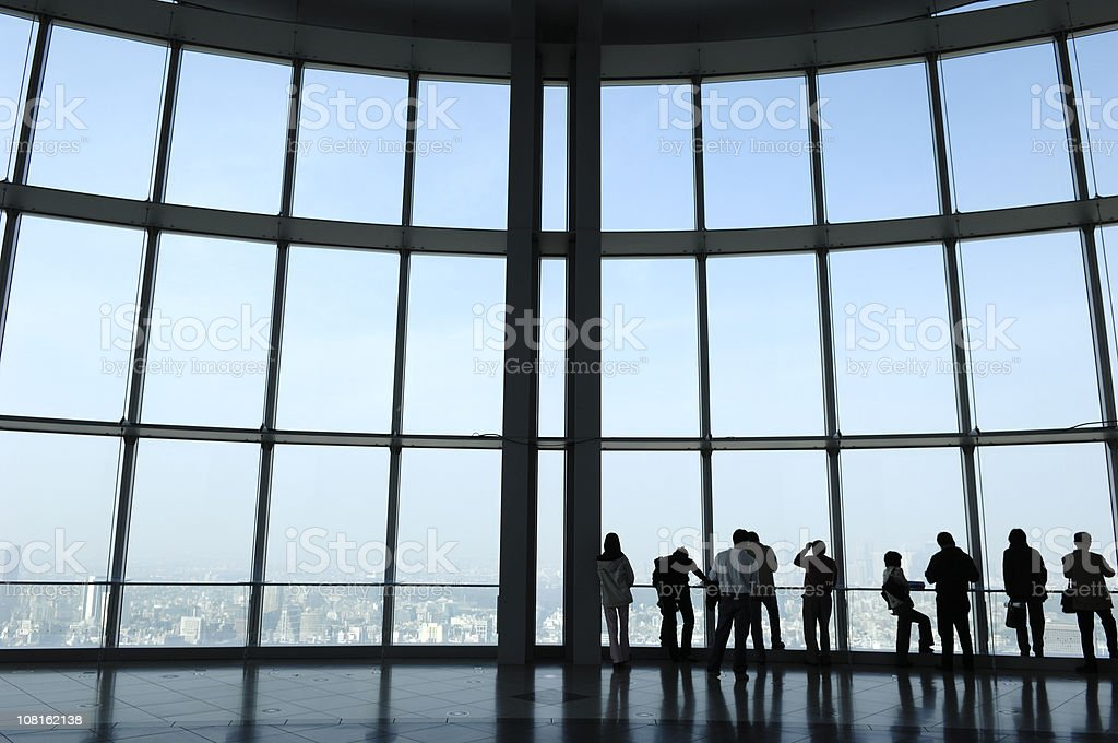 All right. View from the top. Tokyo royalty-free stock photo