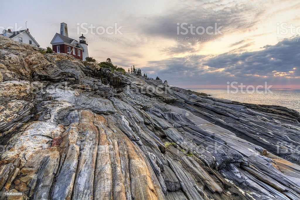 All Rocks Point to Pemaquid stock photo