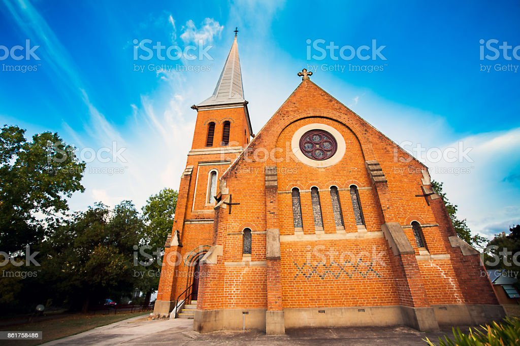 All Saints Anglican Church Tumut New South Wales Australia stock photo