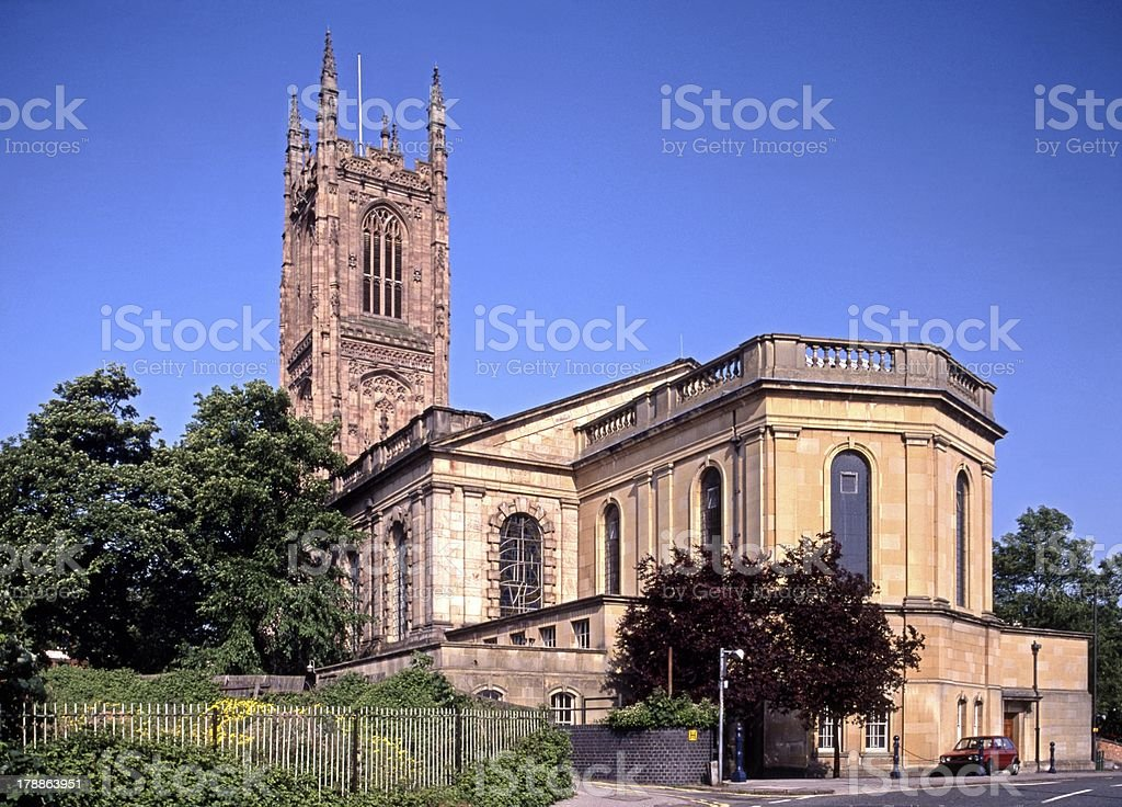 All Saints Cathedral, Derby, England. stock photo