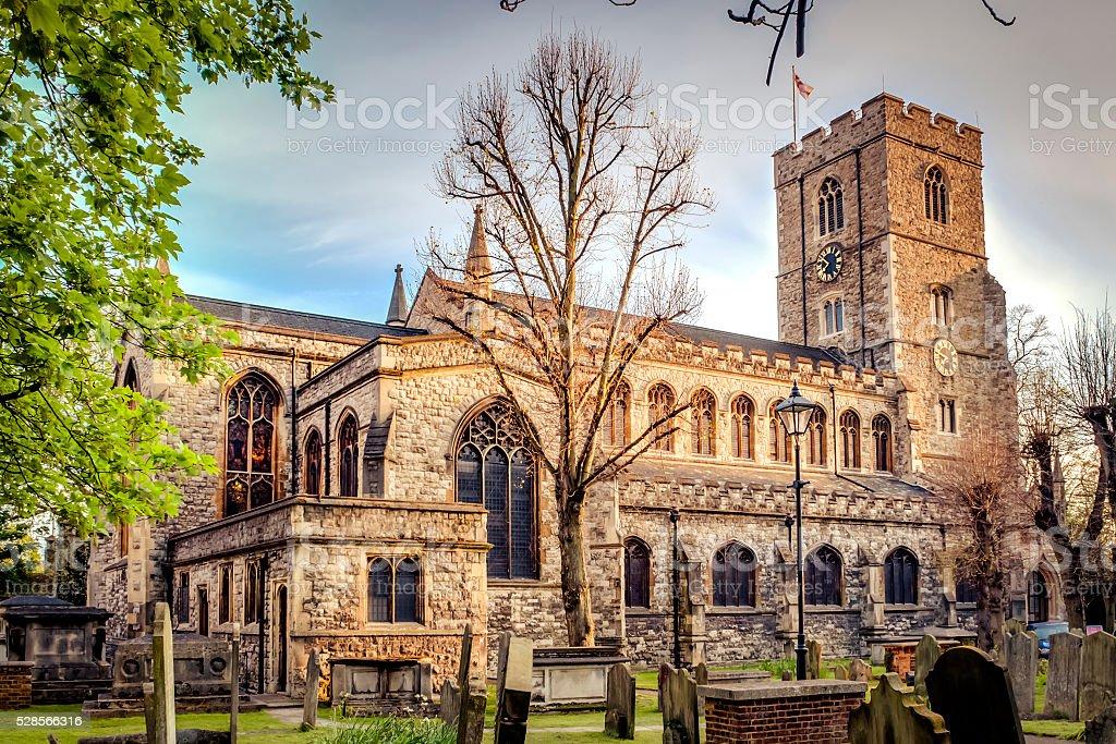 All Saints Church, Fulham, London, England stock photo