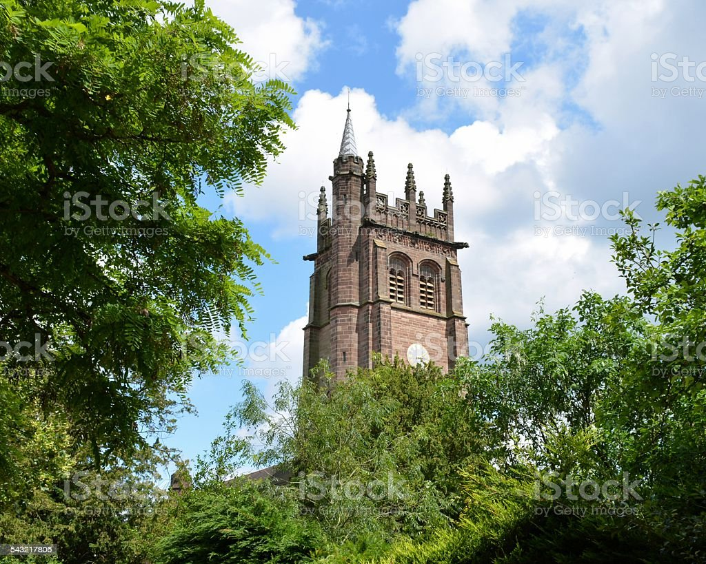 All Saints' Church, Hertford, Hertfordshire stock photo