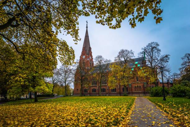 lund - 21 oktober 2017: allhelgonakyrkan i lund, sverige - skåne bildbanksfoton och bilder
