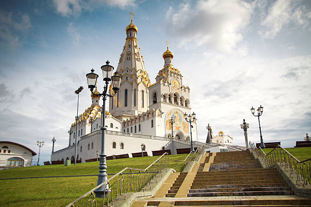 kościół wszystkich świętych w mińsku, białoruś - białoruś zdjęcia i obrazy z banku zdjęć