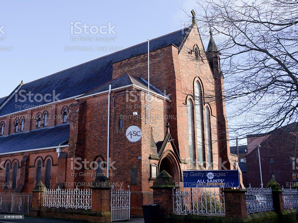 All Saints Church stock photo