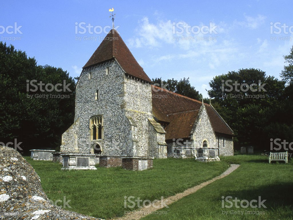 All Saints Church. Westdean. East Sussex. England royalty-free stock photo