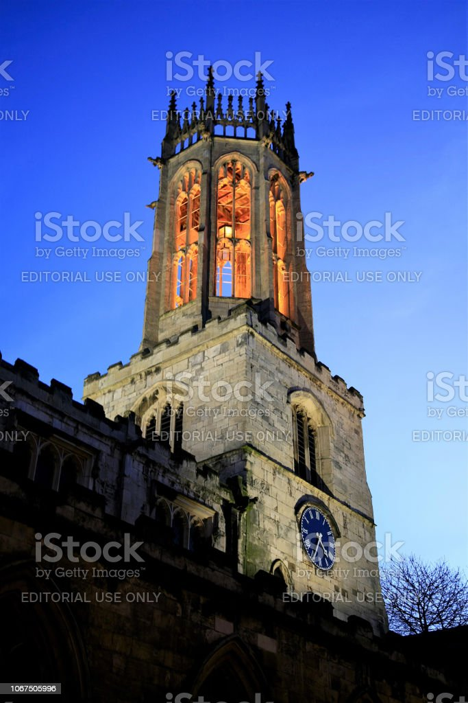 All Saints church, York, Yorkshire. stock photo