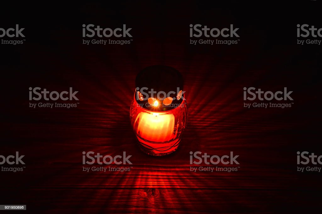 All Saints Day candle stock photo