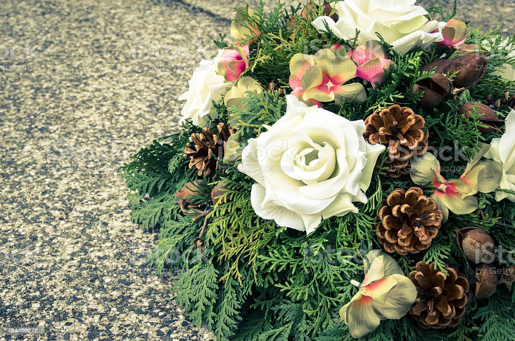 all saints day decoration stock photo