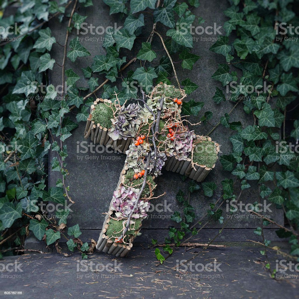 All Saints Day grave decoration - Halloween celebration in Poland. stock photo