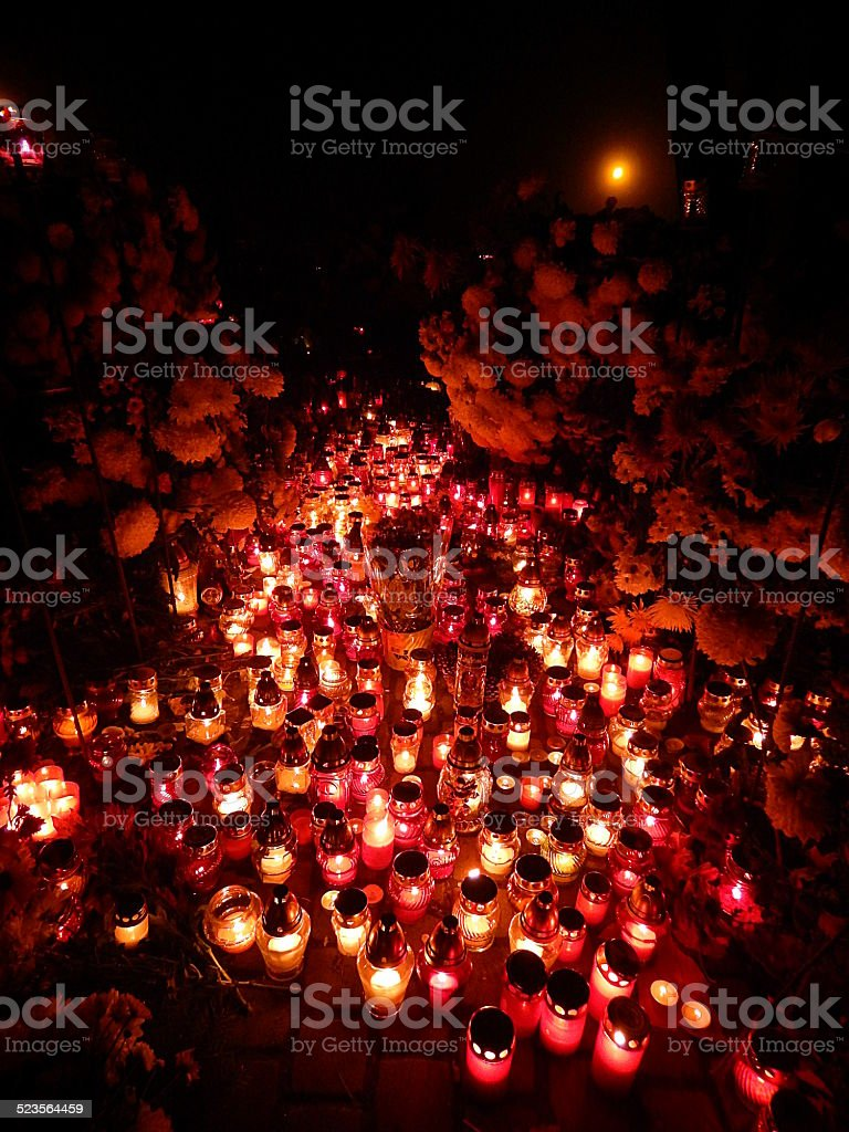 All Saints Day stock photo