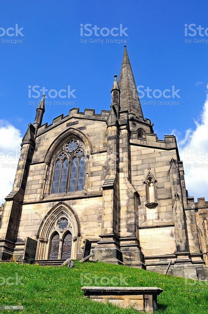 All Saints Parish Church, Bakewell. stock photo